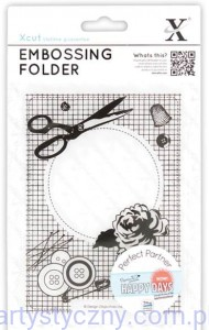 Folder Xcut A6 - Happy Days - Haberdashery - Krawiecka Ramka XCU 515110