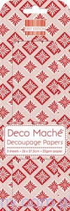 Papier Decoupage - Deco Maché - Red Geometric
