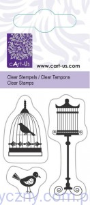 STEMPLE Akrylowe CartUs ~ Birds with Cage - Ptaszki i Klatki - 1063