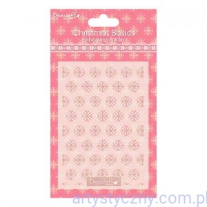 Dovecraft Christmas Basics Folder A6 - Śnieżynki