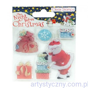 Stemple Akrylowe - The Night Before Christmas - Santa (5szt)