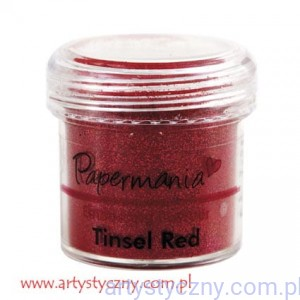 Puder do Embossingu Papermania - Tinsel Red ~ Czerwony