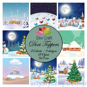 Papiery Dixi Toppers Crafts - 9x9 cm- 24 sheets ET0269