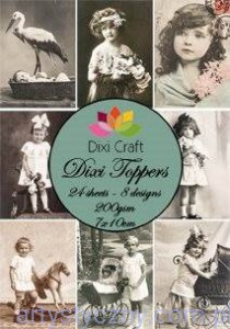 Papiery Dixi Toppers Crafts - 24 sheets ET0002