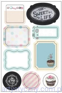 Naklejki - The Sweet Life, Washi Labels