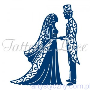 Wykrojnik Tattered Lace - Vintage Bride & Groom - Młoda Para ETL381/D