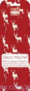 Papier Decoupage - Deco Maché - Red Stag