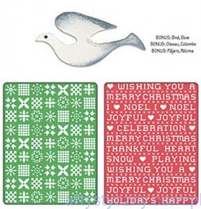 2 Foldery Sizzix, Sizzlits Die -  Nordic Sweater & Cross Set