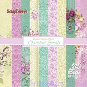 Papiery do scrapbookingu - Cherished Jewels, 24 ark,15х15сm