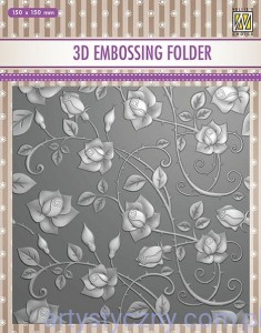 Folder do embossingu 3D Roses, Róże EF3D11