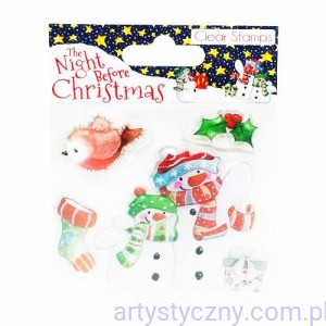 Stemple Akrylowe - The Night Before Christmas - Snowmen (4szt)