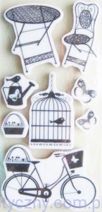 Stemple Cartus - Cling Stamps - Summer Garden - 8 sztuk