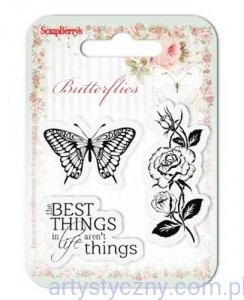 Stemple Ozdobne - 7x7cm - Butterflies – The Best Things - SCB4907001B