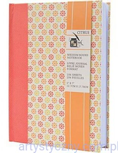 Medium Bound Notebook - Citrus Collection - 12,7x17,78 cm - NOTES