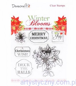 Stemple Akrylowe - Winter Blooms Clear Stamps - Poinsettias (6szt)