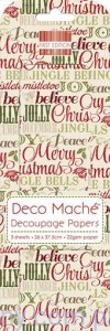 Papier Decoupage - Deco Maché - Xmas Words