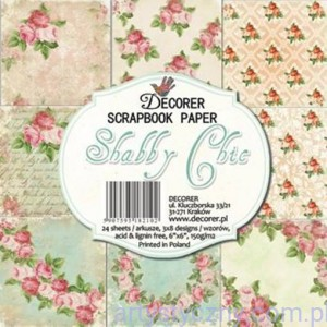 Papiery do Scrapbookingu 15x15cm, Shabby Chic - 8ark
