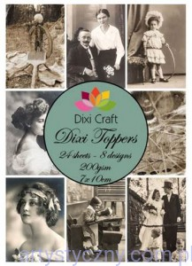 Papiery Dixi Toppers Crafts - 24 sheets ET0113