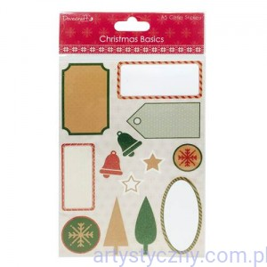 Naklejki Brokatowe - Dovecraft Christmas Basics A5 Glitter Stickers