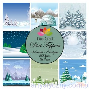 Papiery Dixi Toppers Crafts - 9x9 cm- 24 sheets ET0271