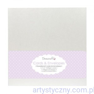 "Kartki i Koperty Perłowe - Dovecraft Pearlescent 6""x6"" Cards & Envelopes"
