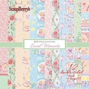 Papiery ScrapBerry's - Sweet Moments, 12 ark, 15х15сm
