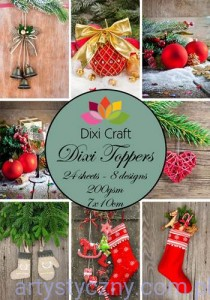Papiery Dixi Toppers Crafts - 24 sheets ET0004