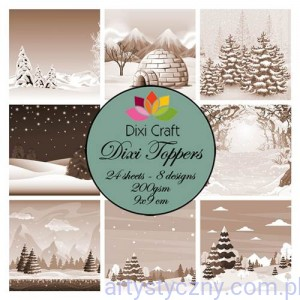 Papiery Dixi Toppers Crafts - 9x9 cm- 24 sheets ET0272