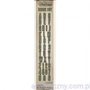 Wykrojnik -Sizzix Tim Holtz Alterations Sizzlits Decorative Strip Inside Out Alphabet 657827