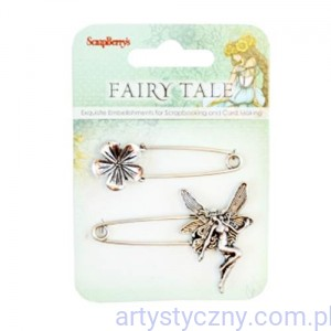 Metal Charms – Fairy Tale - Broszka Elf i Kwiatek