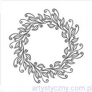 Folder Nellie - Leaves Wreath - Wieniec EFE031