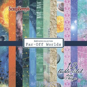Papiery ScrapBerry's - Far-Off Worlds, 12 ark 15х15 сm