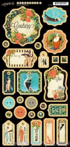 Couture Die Cut Chipboard Elements 2 by Graphic45