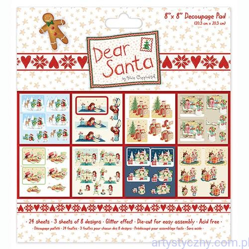 Dear Santa Die-Cuts Brokat 3D Glitter Effect- 8ark