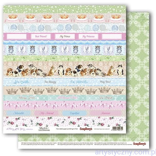 Papier do Scrapbookingu, Kitty Cards, Koty Kotki 30x30сm