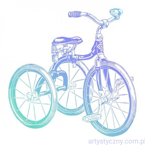 Stempel Akrylowy Tricycle - Tricykl Rower