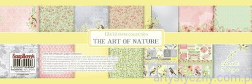 SCB220609100B Papiery Ozdobne ScrapBerry's - The Art of Nature, 8 ark 30x30 сm