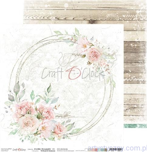 CC-HB-34-06 Papier Ozdobny Craft o'Clock 30x30cm - Hello Beauty 06
